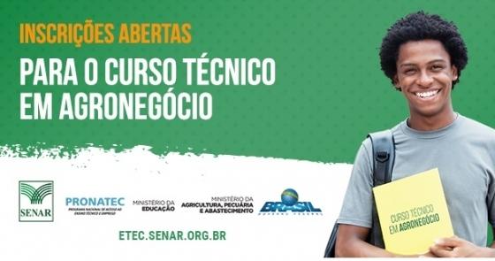 SENAR abre mais de 3 mil vagas para o curso técnico gratuito em Agronegócio