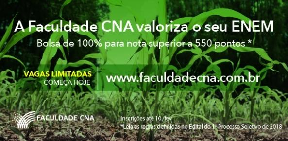 Faculdade CNA inicia processo seletivo para o curso superior de Tecnologia em Gestão do Agro